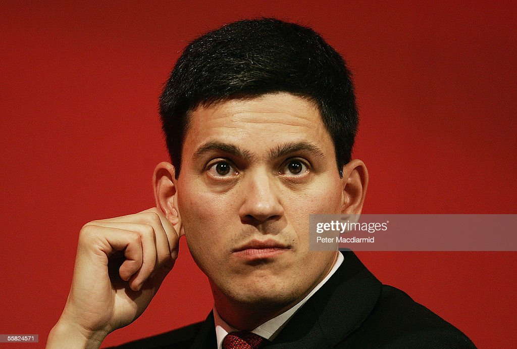 Communities and Local Government Minister, David Miliband, listens to speeches at the Labour Party conference on September 29, 2005 in Brighton, England. The six day conference ended today with speeches and the singing of traditional Labour anthem The Red Flag.
