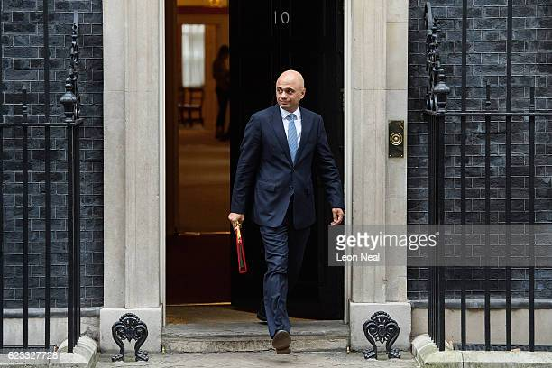 Communities Secretary Sajid Javid leaves number 10 Downing Street following a Cabinet meeting on November 15 2016 in London England The government...