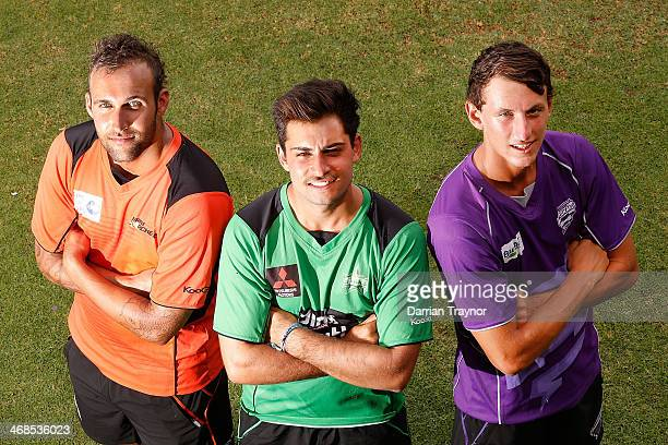 Community and Development Rookies Hayden Collard of the Perth Scorchers Ben Abbatangelo of the Melbourne Stars and Ryan Lees of the Hobart Hurricanes...