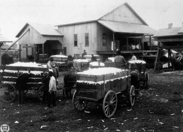 A community cotton gin in Madison County, Alabama.