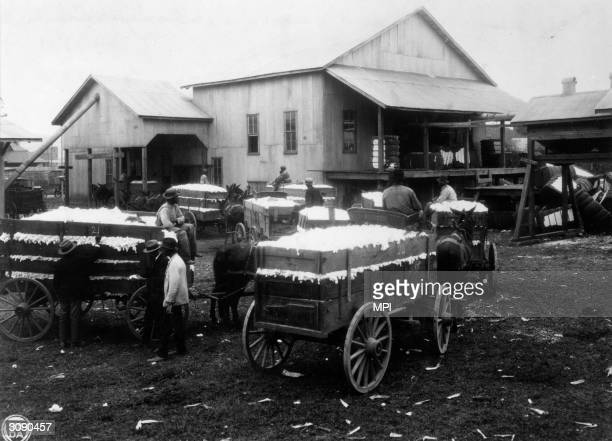 A community cotton gin in Madison County Alabama