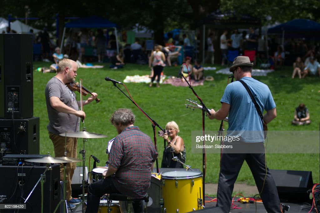 Community Festival in Public Park, in West Philadelphia : Stock Photo