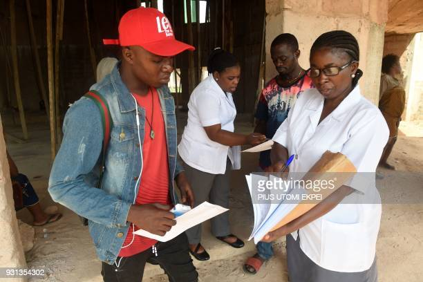 Community health practitioners speak to secondary contacts to control the spread of Lassa fever at the Institute of Lassa Fever Research and Control...