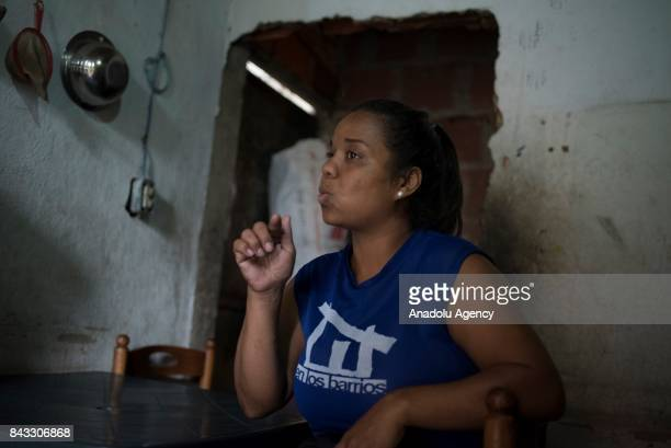 Community leader Alexandra Evaristo speaks during an exclusive interview in the Sector Antonio Jose de Sucre part of the Petare Slum the biggest...