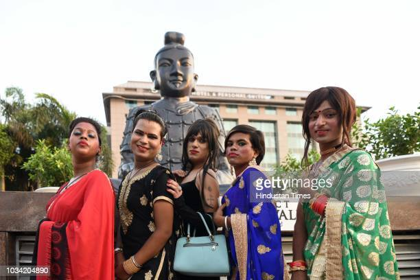 LGBT community members enjoy during the 7th edition of Hijra Habba a gathering of queer community and its supporters at Select Citywalk on September...