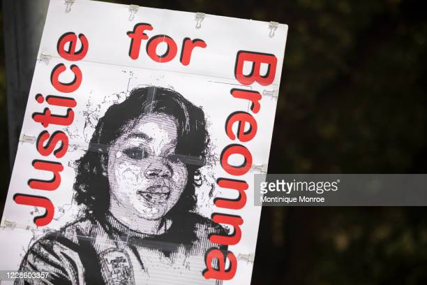 Community members gathered for a Stand 4 Breonna event to demand justice for Breonna Taylor on September 19 2020 in Austin Texas Taylor was killed by...