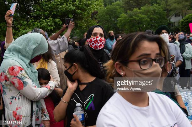 Community mourns outside London, Ontario Mosqueafter a family of five was hit by a driver in London, Ontario, Canada on June 08, 2021. Four of the...