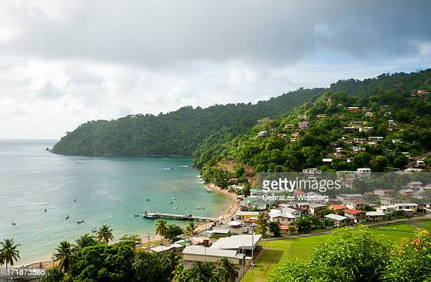 community on side of the mountain - trinidad and tobago stock pictures, royalty-free photos & images
