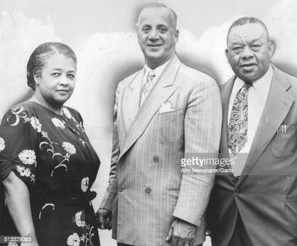 Community organizer and director of Friendly Neighborhood House Gladys Churchman, Ralph A Wallani and Joe Francis, Newark, New Jersey, August, 1948.