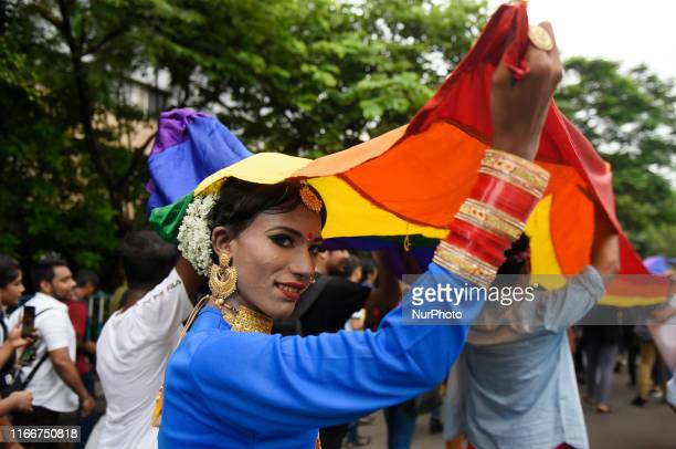 LGBTQ community participates in a pride rally celebrating anniversary of repealing a colonialera criminal law in Kolkata India 08 September 2019 Last...