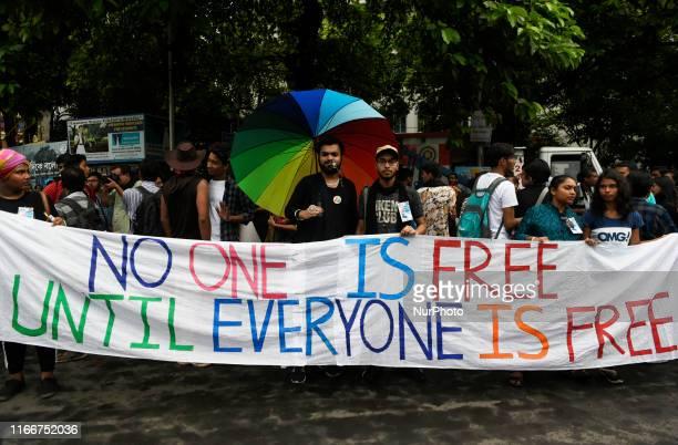LGBTQ community participates in a pride rally celebrating anniversary of repealing a colonialera criminal law in Kolkata India 08 September 2019 Last...
