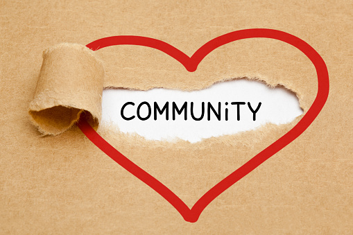 Community Ripped Heart Paper Concept 1127133492