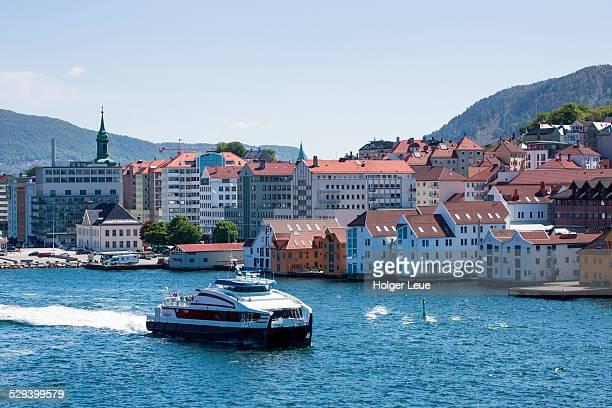 Commuter ferry Froya in Bergen harbor