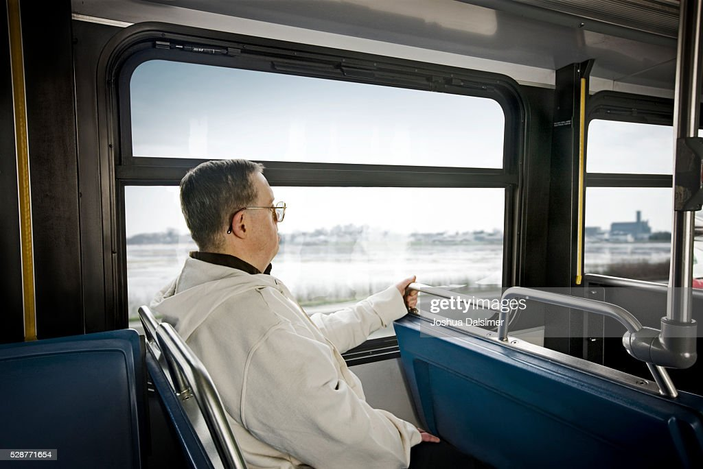 Commuter on a bus : Stock Photo