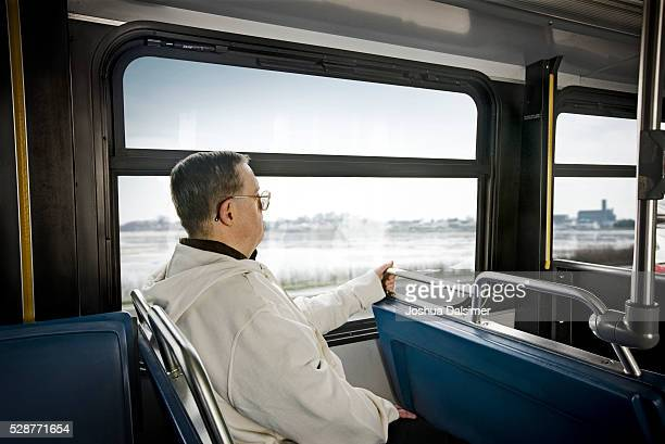 Commuter on a bus