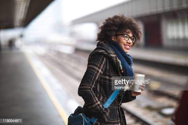 commuter on train station - rush hour stock pictures, royalty-free photos & images
