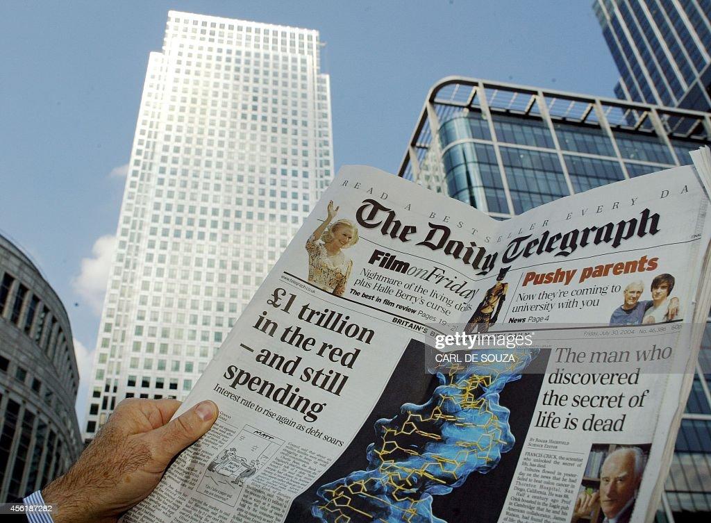 BRITAIN-NEWSPAPER-TELEGRAPH 2 : News Photo
