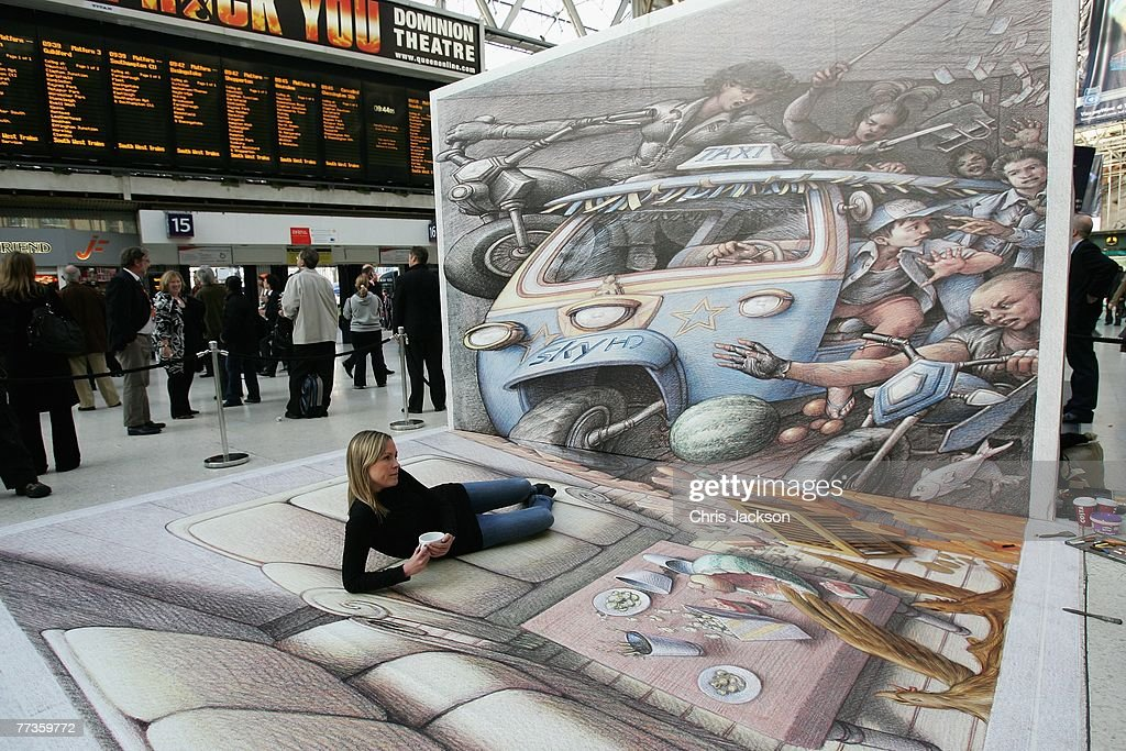 3D Street Artist Kurt Wenner - Photocall : News Photo