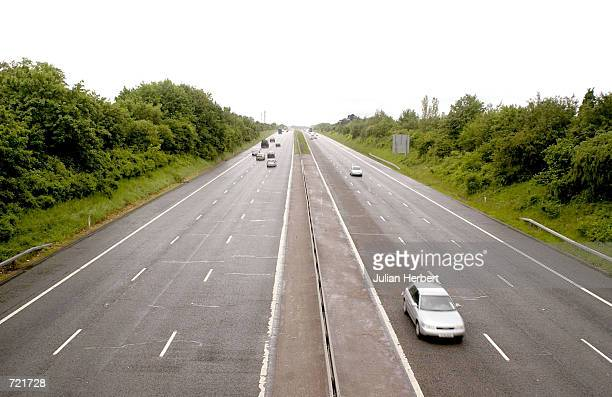 Commuter traffic is light on the M3 Motorway during England's World Cup match against Nigeria on June 12, 2002 near Basingstoke, Hampshire, England....