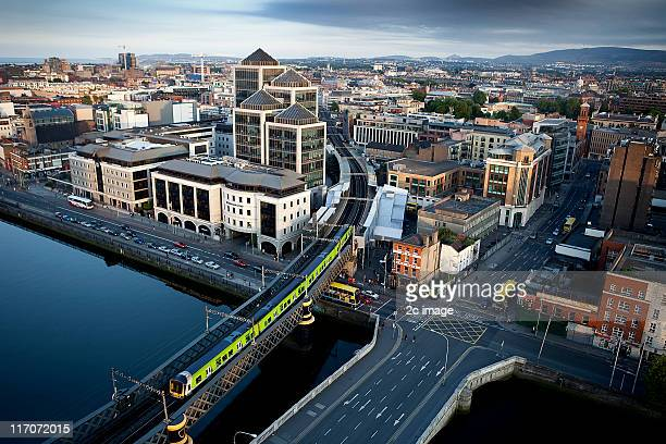 commuter train, dublin, ireland - dublin stock pictures, royalty-free photos & images