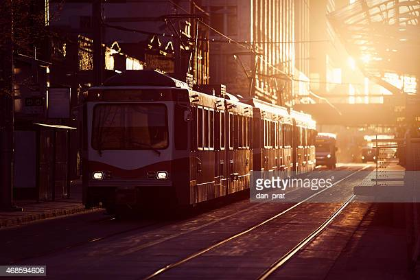 commuter train - calgary stock pictures, royalty-free photos & images