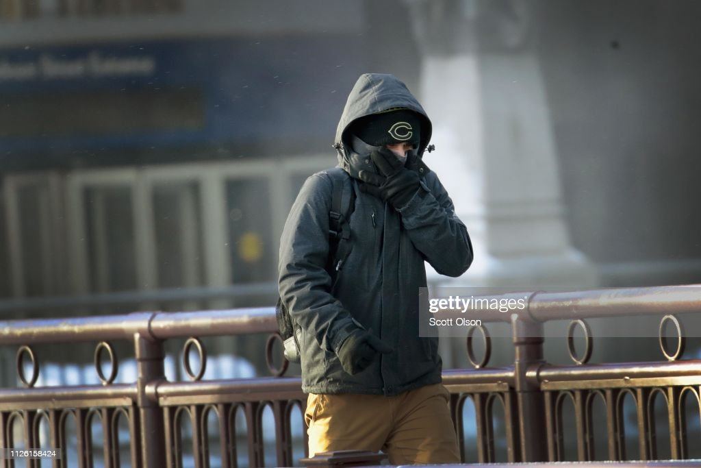 Polar Vortex Brings Extreme Cold Temperatures To Chicago : News Photo