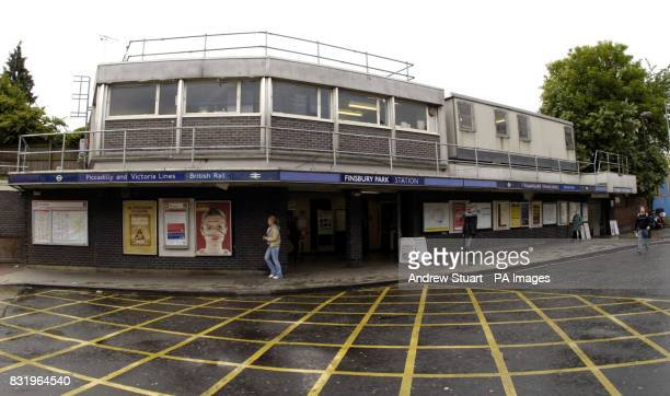 Commuters arrive at Finsbury Park Underground station in London the morning after a woman in her 20s was injured by a gunman who fired shots at two...