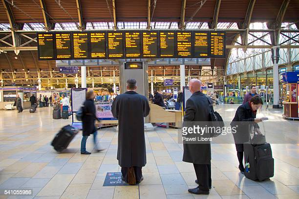Commuters at Paddington Station