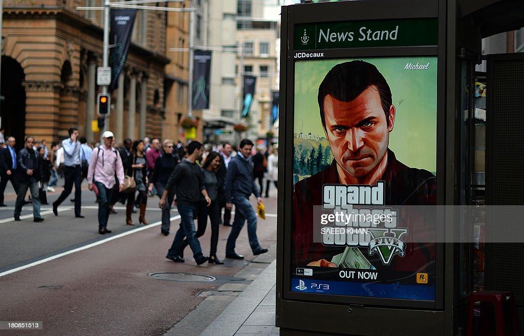 AUSTRALIA-ENTERTAINMENT-COMPUTING-GTA5 : News Photo