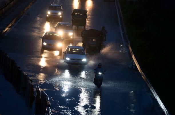 IND: Heavy Rains Caused Waterlogging And Traffic Jam In Delhi-NCR