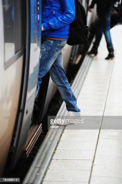 Tous les voyageurs entrant métro
