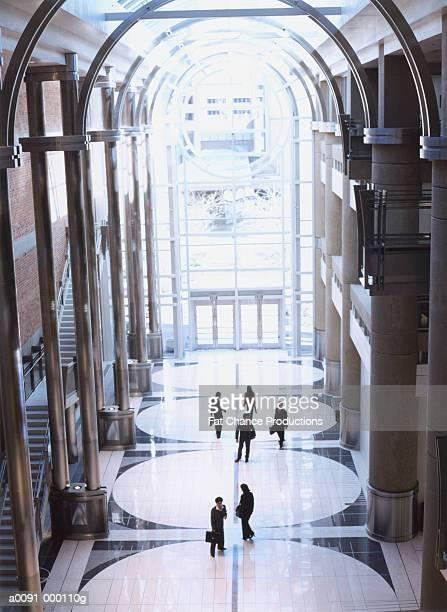 Commuters in Atrium