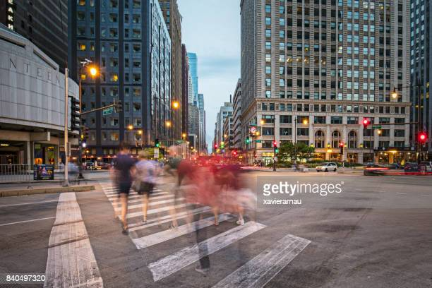 Commuters in Chicago