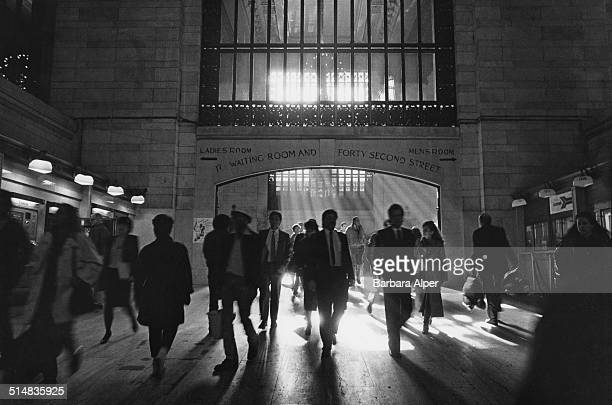 Commuters in Grand Central Station New York City USA 1988