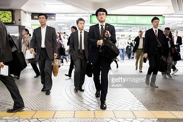 通勤者で、東京新宿駅