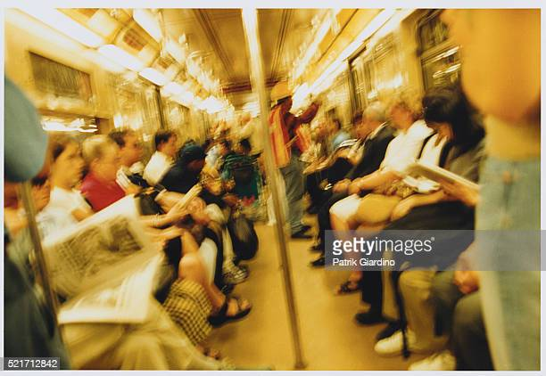 Commuters in Subway Car