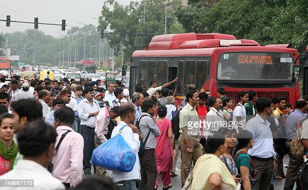 Commuters look for alternative transport as metro stations were closed down following power outage in New Delhi India Tuesday July 31 2012 Northern...