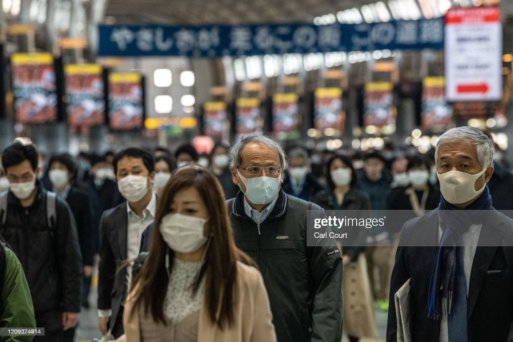 Japan Imposes State Of Emergency To Contain Coronavirus Outbreak : News Photo