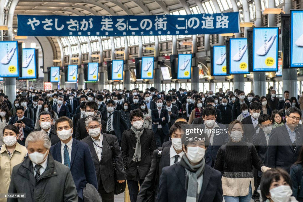 Japan Imposes State Of Emergency To Contain Coronavirus Outbreak : ニュース写真