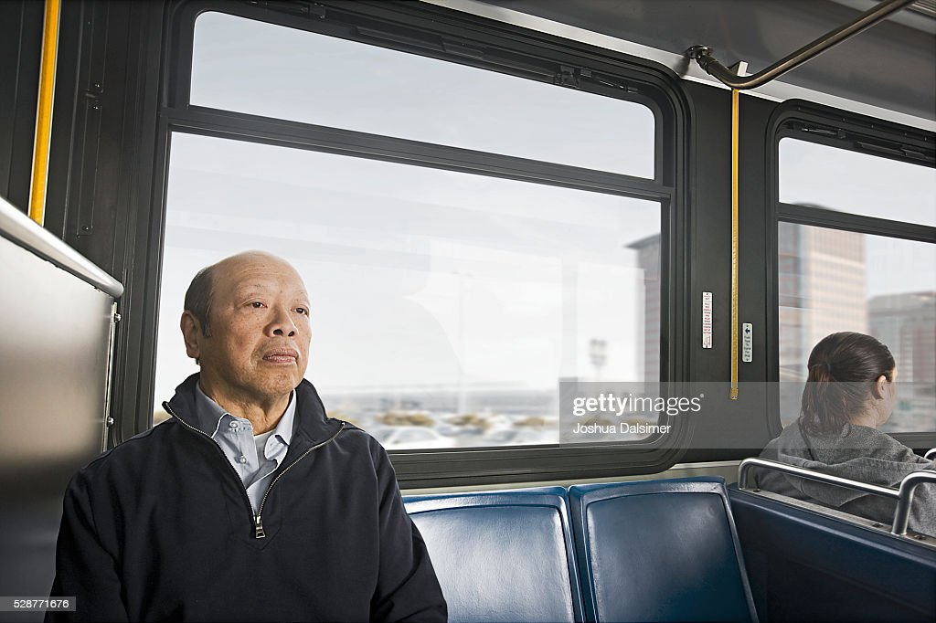 Commuters on a bus : Stock Photo