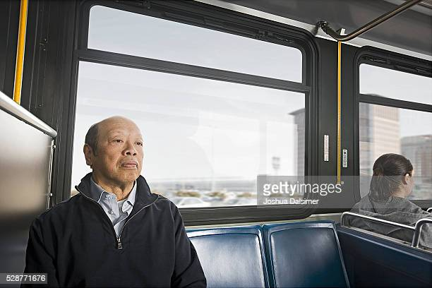 Commuters on a bus