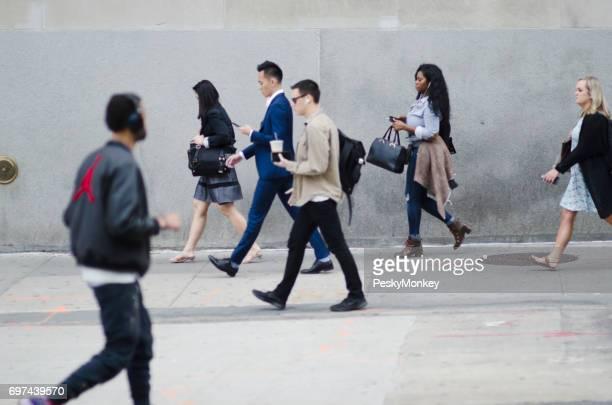 Pendler im freien senken Sie Manhattan New York City