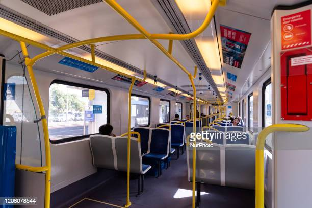 Commuters practice social distancing as the coronavirus continues to rapidly spread in Melbourne Australia on March 23 2020 From midday on March 23...