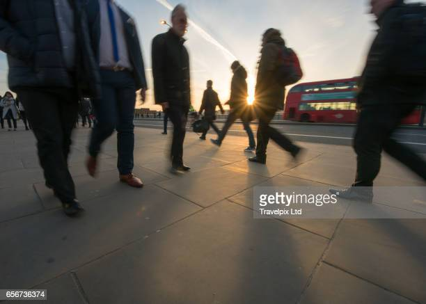 Commuters, Rush hour, London, United Kingdom