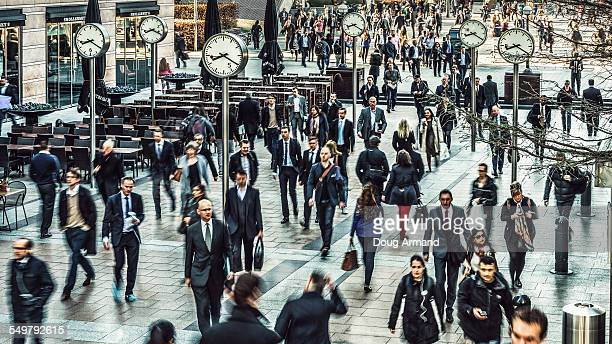 Commuters rushing to work across Reuters Square