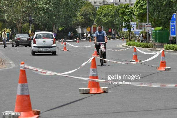 Commuters seen at the inner circle of the Connaught Place, on June 30, 2019 in New Delhi, India. The New Delhi Municipal Council on Sunday starts its...