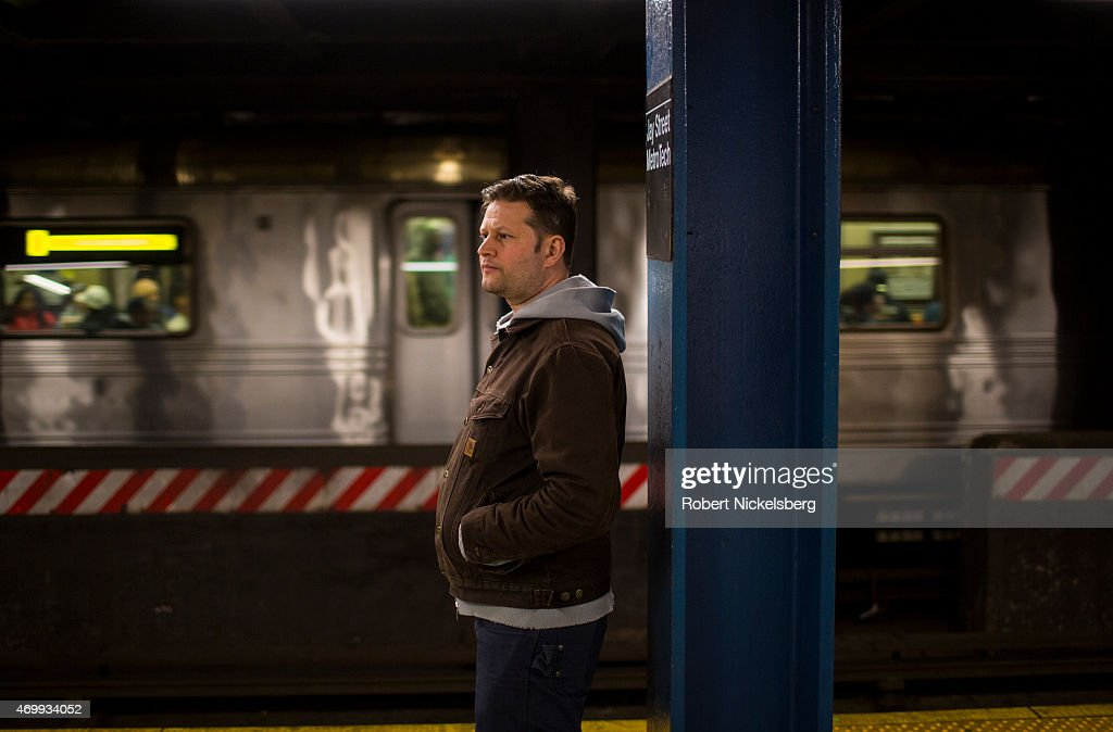 Commuters Wait At The Jay Street Metro Tech Subway Station In Brooklyn, NY : News Photo
