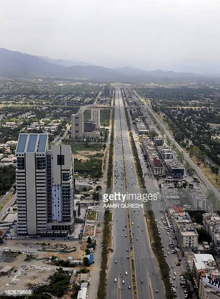Commuters travel on the main commercial street of the capital Islamabad on June 1 2011 The National Budget for the Fiscal year 201112 envisaging...