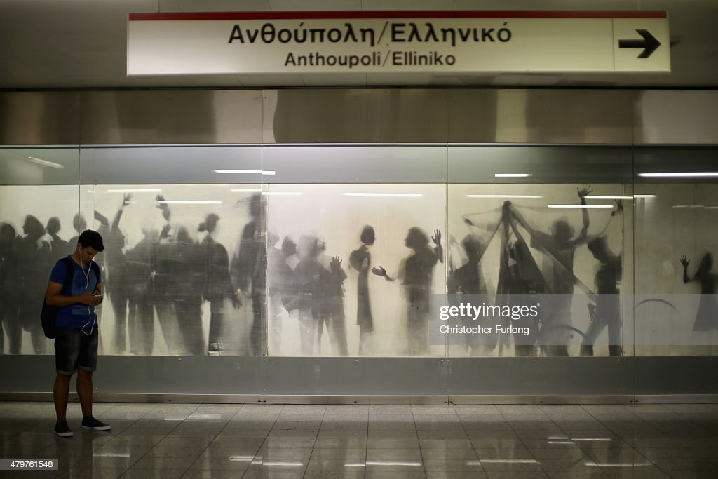 Commuters use the Athens Metro which has been declared free to use during the current Euro crisis on July 7, 2015 in Athens, Greece. Greek Prime Minister Alexis Tsipras is working on new debt crisis proposals and is due to present them at a Eurozone emergency summit today.