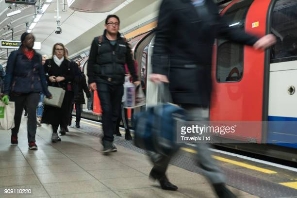 Commuters using the underground transport system